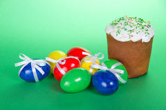 Bright Easter eggs Stock Photo