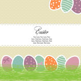 Bright easter eggs card Stock Image