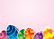 Bright Easter eggs. On a pink background Stock Image