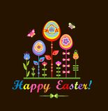 Bright easter greeting Stock Photos