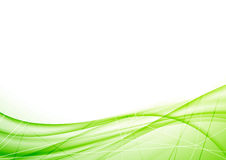 Bright eco geometrical green wave layout Stock Photo