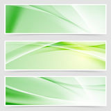 Bright ecological web header collection Royalty Free Stock Photo