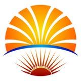 Bright education logo. Illustration of bright education logo design isolated on white background Stock Photography