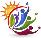 Bright education logo Royalty Free Stock Images