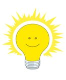 Bright electric bulb Stock Photo