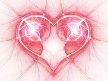 Bright electric current heart Stock Images