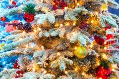 Bright elegant Christmas tree Stock Image