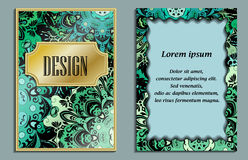Bright elegant design for wedding invitations, birthday and greeting cards. Vector art with oriental motif. Shiny card. Bright elegant design for wedding Royalty Free Stock Image