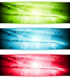 Bright elegant hi-tech banners Stock Photos