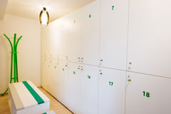 Bright and elegant locker room Royalty Free Stock Photography