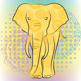 Bright elephant Royalty Free Stock Images