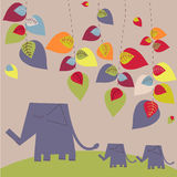 Bright elephants Royalty Free Stock Photos