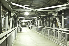 Bright elevated walkway Stock Photo