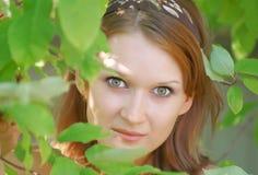 Bright emotional portrait Stock Images