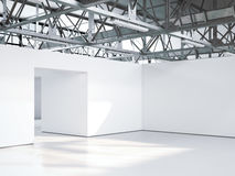Bright empty gallery interior. 3d rendering Royalty Free Stock Image