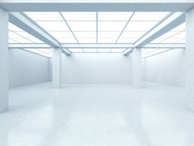 Bright empty gallery interior Royalty Free Stock Photo