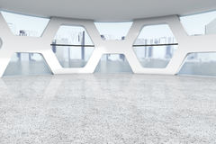 Bright Empty Office Abstract Interior. 3d Rendering Stock Image