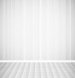 Bright empty room with striped wall and square Stock Photos