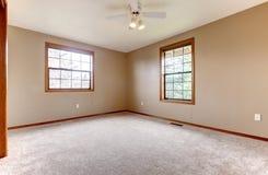 Bright empty room with windows Stock Image