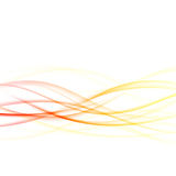 Bright energetic abstract smooth futuristic swoosh waves. Hi-tec. H graphic transparent motion lines. Vector illustration Stock Images