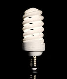 Bright energy saving fluorescent light bulb Royalty Free Stock Photos