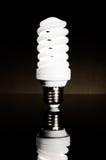 Bright energy saving fluorescent light bulb Stock Image