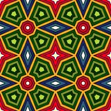Bright ethnic abstract background. Kaleidoscope seamless pattern with decorative ornament in african style. Royalty Free Stock Image