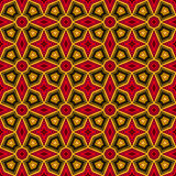 Bright ethnic abstract background. Kaleidoscope seamless pattern with decorative ornament in african style. Ornamental vivid wallpaper. Vector illustration Royalty Free Stock Photo