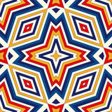 Bright ethnic abstract background. Seamless pattern with symmetric geometric ornament. Stock Photography