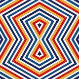 Bright ethnic abstract background. Seamless pattern with symmetric geometric ornament. Stock Images