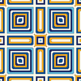 Bright ethnic abstract background. Seamless pattern with symmetric geometric ornament. Ornamental mosaic texture. Vector illustration Stock Image