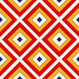 Bright ethnic abstract background. Seamless pattern with symmetric geometric ornament. Ornamental mosaic texture. Vector illustration Royalty Free Stock Images