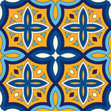 Bright ethnic abstract background. Seamless pattern with symmetric geometric ornament. Royalty Free Stock Photography