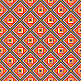 Bright ethnic abstract background. Seamless pattern with symmetric geometric ornament. Stock Photos
