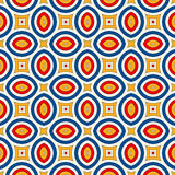 Bright ethnic abstract background. Seamless pattern with symmetric geometric ornament. Stock Photo