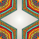 Bright Ethnic Frame Royalty Free Stock Photography