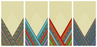 Bright ethnic frame at set. Abstract background with bright ethnic ornament border for special design Royalty Free Stock Photography