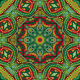 Bright Ethnic Indian Seamless Ornament Stock Photo