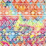 Bright ethnic pattern. Geometric striped background.. Tribal motifs. Spot colors - background. Vector illustration Royalty Free Stock Photography