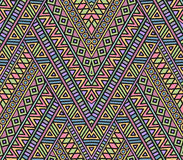 Bright ethnic seamless pattern. With geometric ornament Stock Images