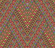 Bright ethnic seamless pattern. With geometric ornament Royalty Free Stock Photography