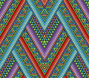 Bright ethnic seamless pattern. With geometric ornament Royalty Free Stock Images