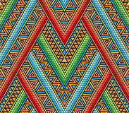 Bright ethnic seamless pattern. With geometric ornament Stock Photography