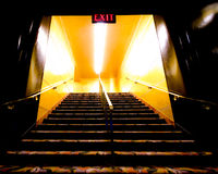 Bright Exit Stairs Stock Photography