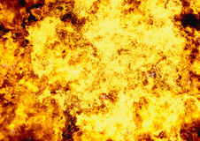 Bright explosion fire burst backgrounds. Body of flame texture Stock Image