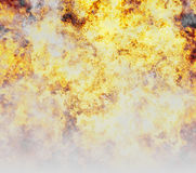 Bright explosion fire burst and smoke backgrounds Stock Photos