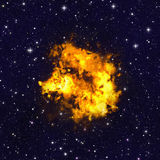 Bright explosion fire flash on space backgrounds. Bright explosion fire flash on space background Royalty Free Stock Images