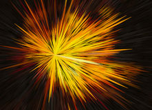 Bright explosion fire speed burst background in space Royalty Free Stock Image