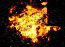 Bright explosion flash on a black backgrounds Royalty Free Stock Photos