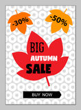 Bright eye catching sale website posters in flat design style. Vector illustrations for social media banners, smart phone or tablet posters, email and Stock Images
